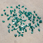 Shattered rubber glass - green