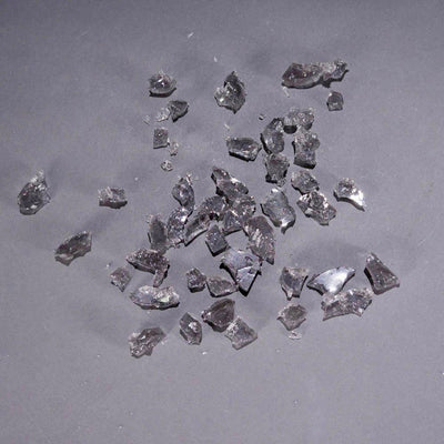 Grey rubber glass shards