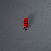 Stainless steel pyro clip (red)