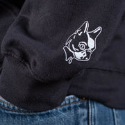 Special effects hoodie sweatshirt Boston Terrier sleeve.