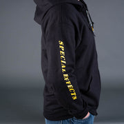 Special effects hoodie sweatshirt side with special effects text