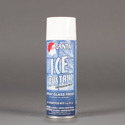 Can of Santa spray ice crystals.