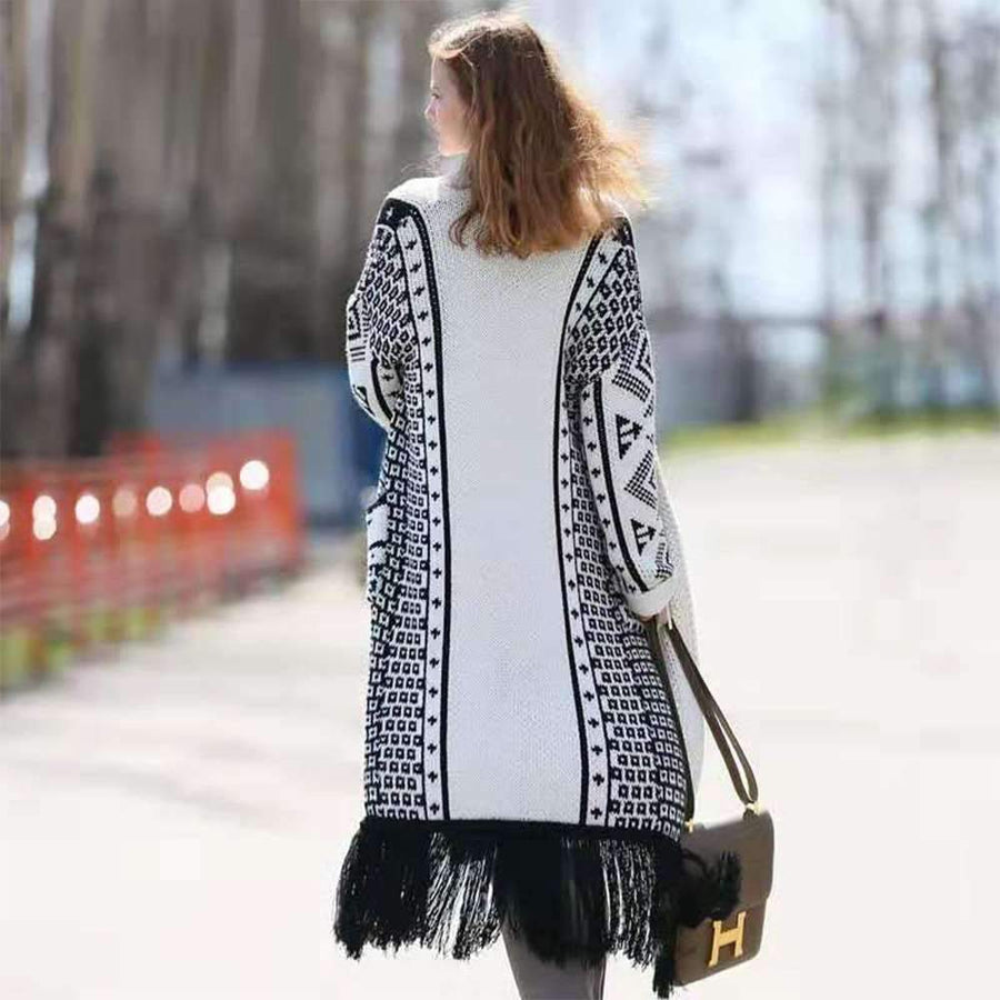 Fashion Plus Purl Long sleeve Coats