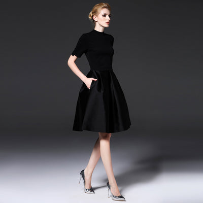 New Fashion Plus LEyo Black Skater Evening Party Dresses