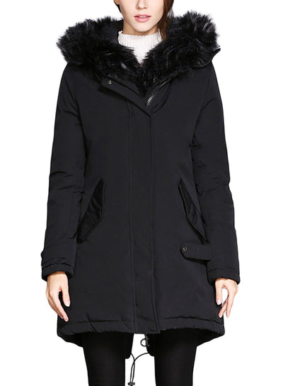 Women New Hoodies Fur collar Coats