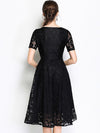 Elegant Embroidery High Waist A Line Dress