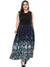 Oversize Print Stitching Big Hem Maxi Dress