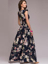 Vintage Printed Square Neck Sleeveless Floor-Length Casual Dresses(Without Belt)