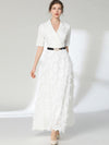 Party Fringed Sashes Ruffled Slim Maxi Casual Dresses