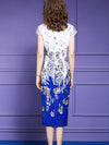 Vintage Slit Cheongsam Embroidery Bodycon Dress
