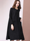 Pocket Casual Loose O-Neck Sweater Dress