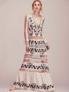 Bohemian Sexy Stitching Perspective Print Maxi Dress