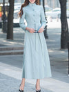 Fashion Lacing Belted Single Breasted Trench Coat
