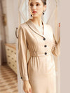 Styleonme Solid Slim Bodycon Trench Coat