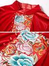 Folk Embroidery Frog Multicolor Velour Shift Dress