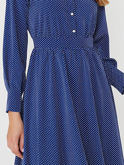 Sweet Polka Dot Long Sleeve Skater Dress