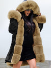 Street Long Sleeve Lacing Hooded Fur Collar