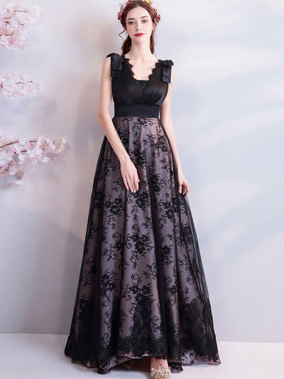 Eyelash Lace Stitching V-Neck Tulle Embroidery Delicate Wedding Party Dresses