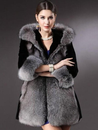 Women Fashion Fur  Plush Coats