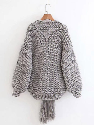 Loose Feel Needle Knitted Fashion Cardigans Woman Coats