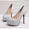 New Crystal High Heel Bridal Wedding Shoes