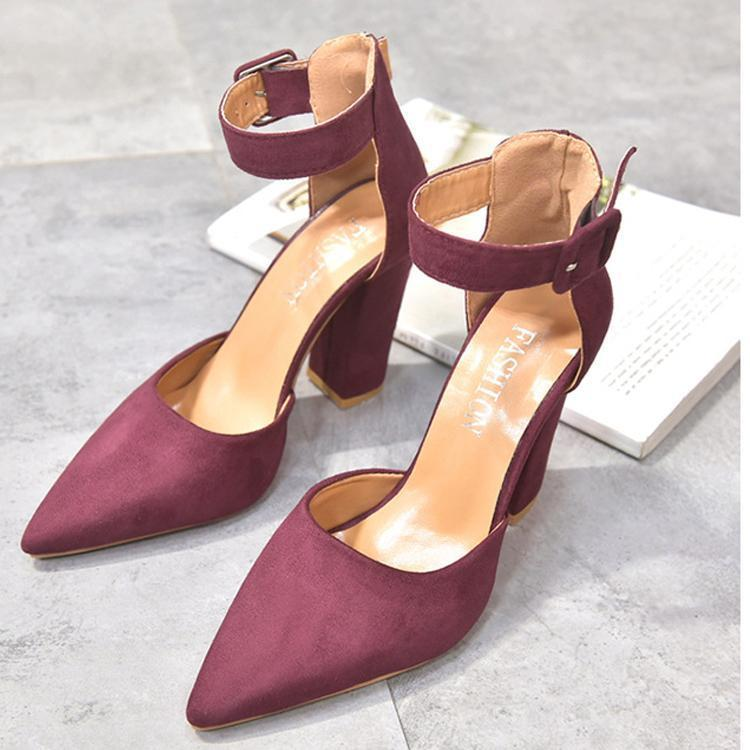 Suede Thick Heels Shoes
