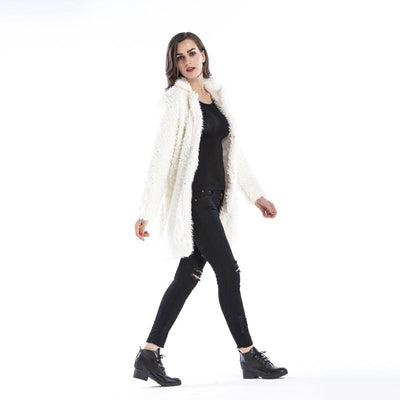 Women New Plush Lapel Coats