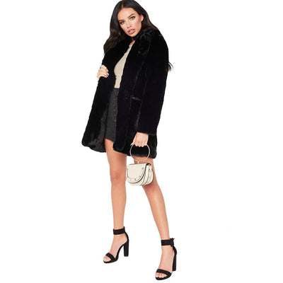 Women Fashion Plush Coats