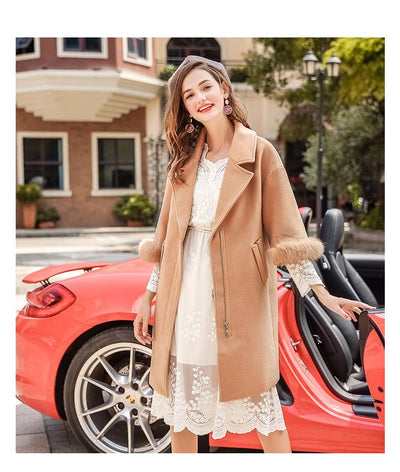 New Fashion Pure Lapel Thickness Coats