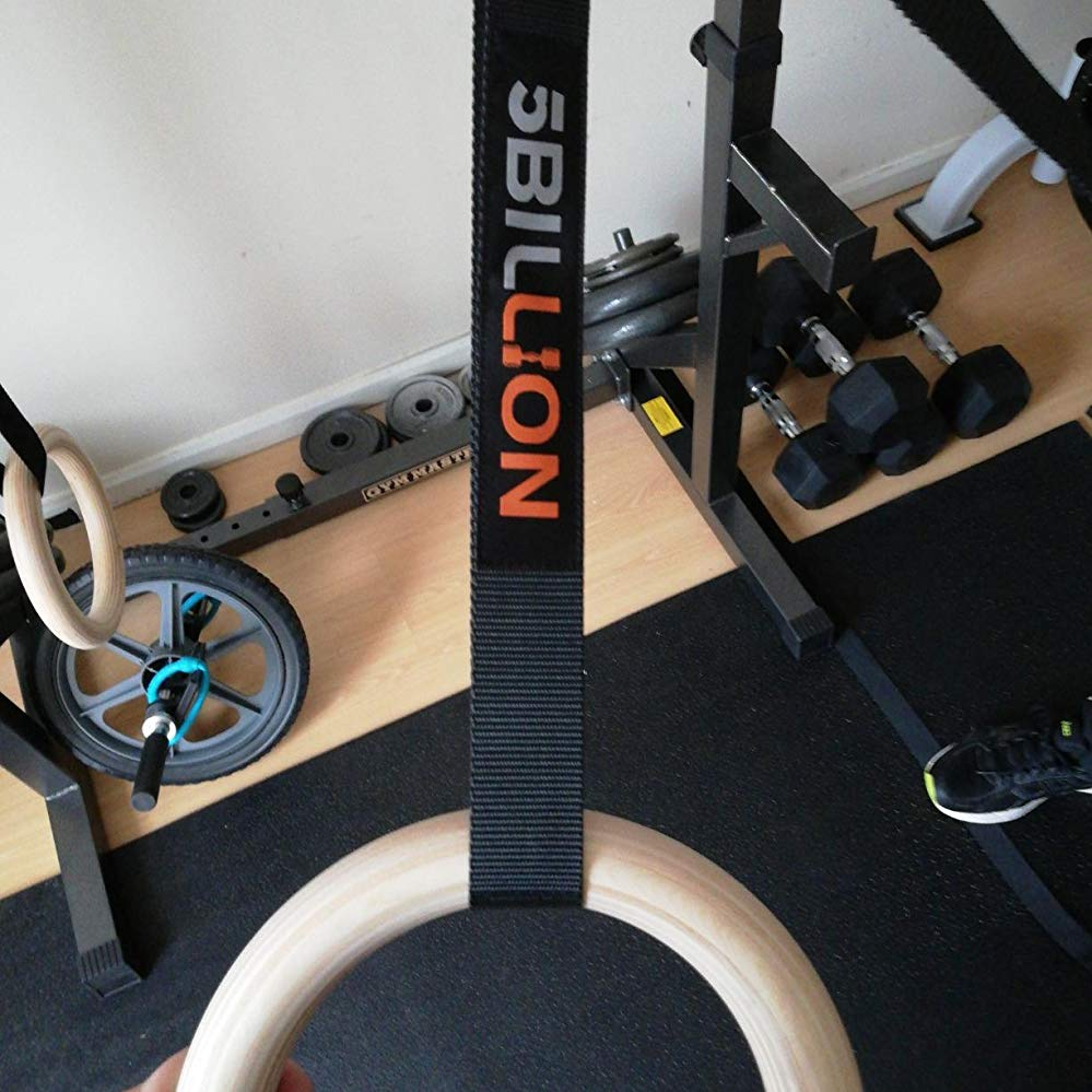 Wood Gymnastic Rings Olympic Gym Rings for Home Gym - 5Billion – 5Billion Fitness