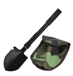 MINI PORTABLE 3 IN 1 SHOVEL SPADE PICKAXE TOOL