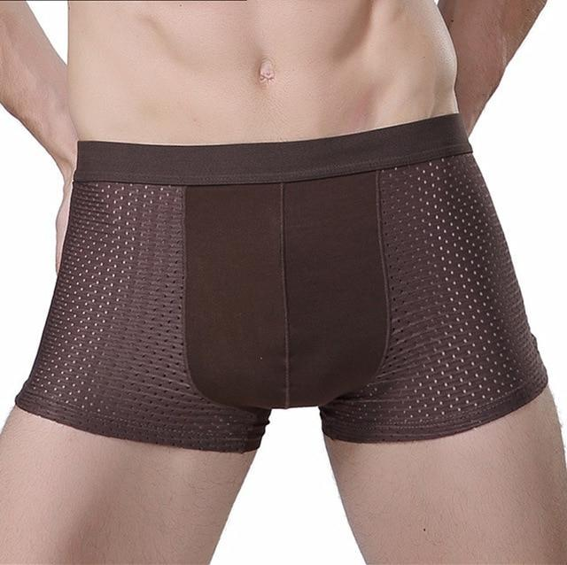 Mens Ice Silk Boxers (3 Pieces Set)