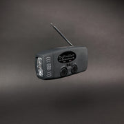 crank + solar emergency radio