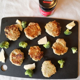 Homemade broccoli and parmesan sausage without casings