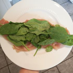 chicken breast with spinach keto