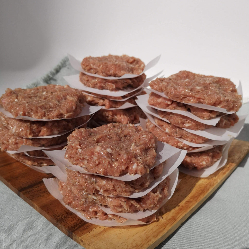 Prepare your keto and gluten-free sausages in advance for quick and easy meals! Made with Tasty Sausage Powder.