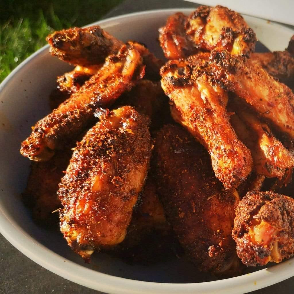 The easiest homemade chicken wings with organic Les Savoureux BBQ spices. Keto and gluten free!