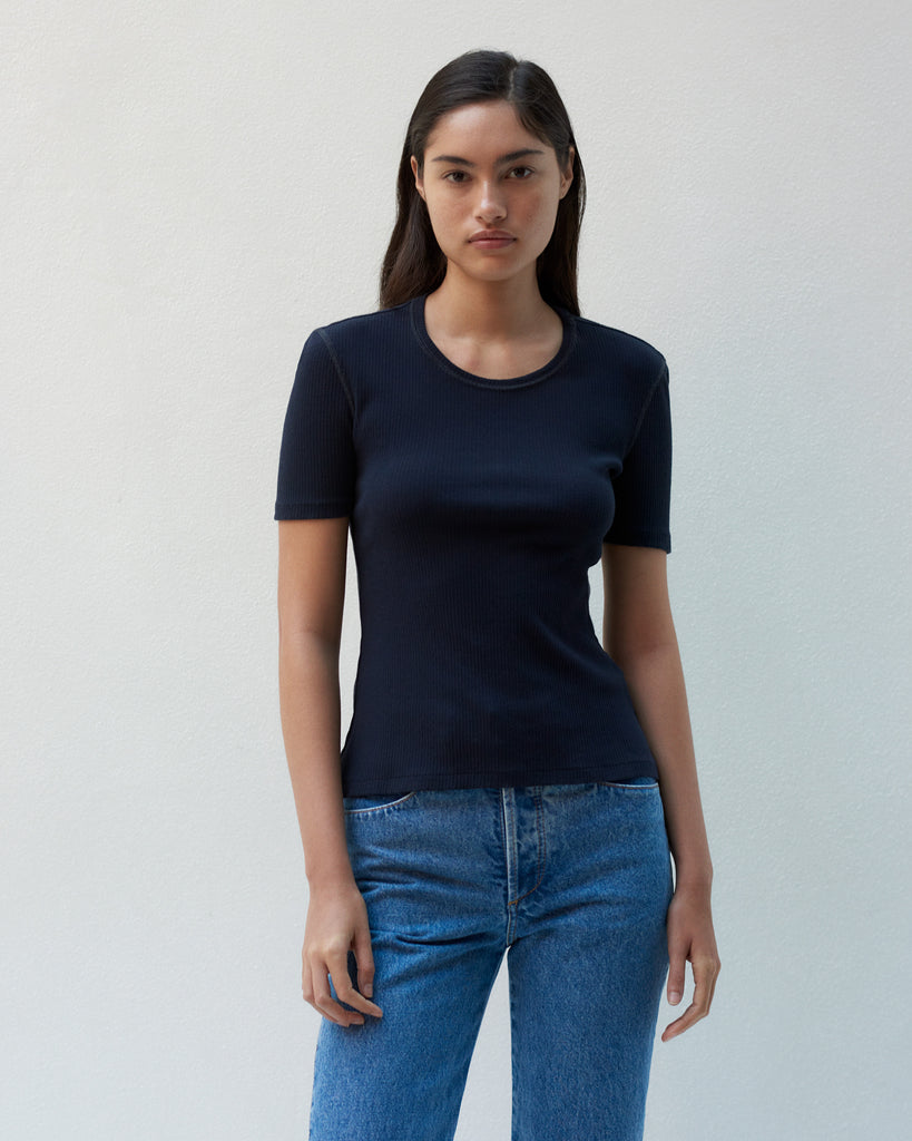 CLASSIC TEE IN RIBBED COTTON