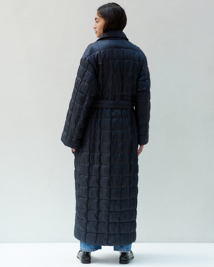 WRINKLE QUILTED COAT