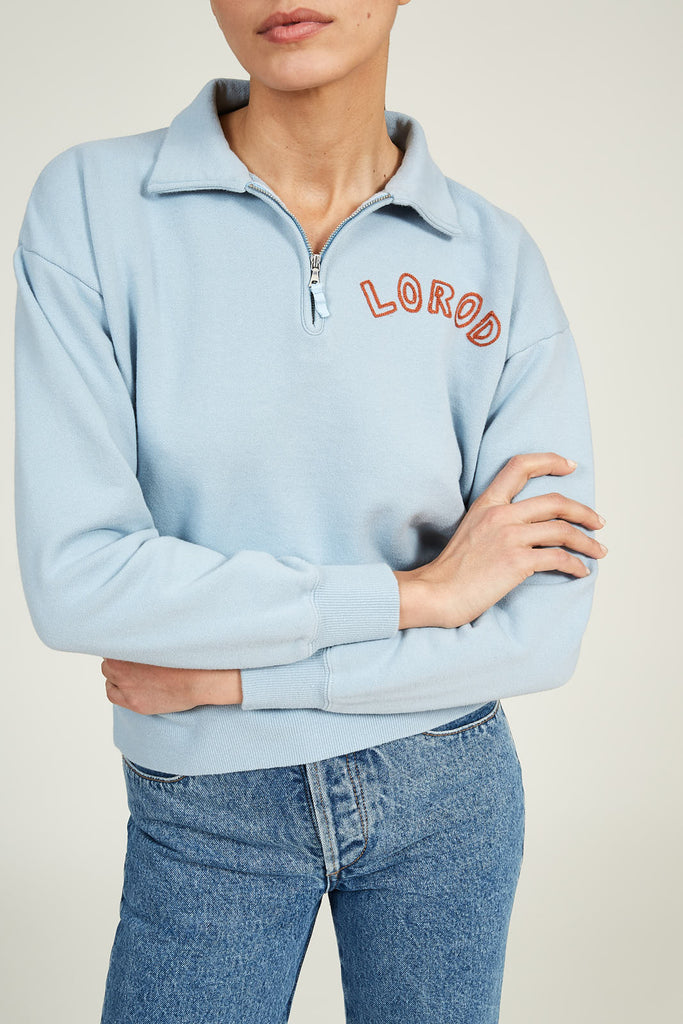 Zip Sweatshirt in Cotton Terry