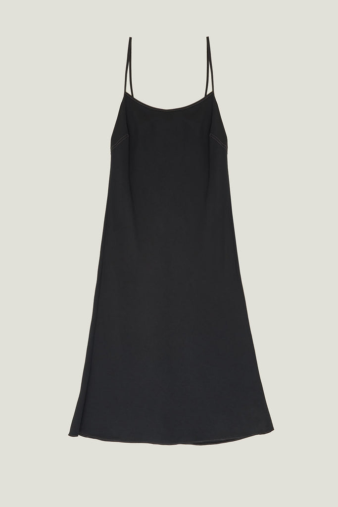 Slip Dress in Viscose Twill