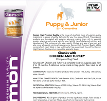 Load image into Gallery viewer, Conserve Gemon 24X415g pui și curcan - Puppy&Junior