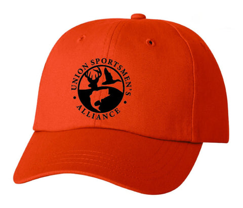 USA Logo Stars and Stipes 6 panel  Hat Blaze Orange