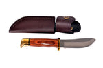 Buck Skinner fixed blade knife with Leather Sheath