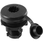Compact Round Flush Deck Mount, Black