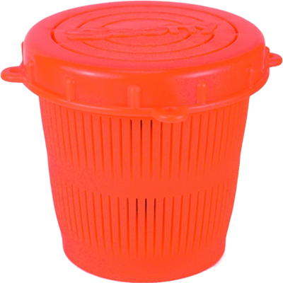 Vented Bait Jar, .5 Liter, Flour. Orange