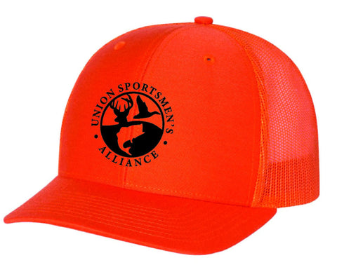 USA Logo Stars and Stipes Mesh Hat Blaze Orange