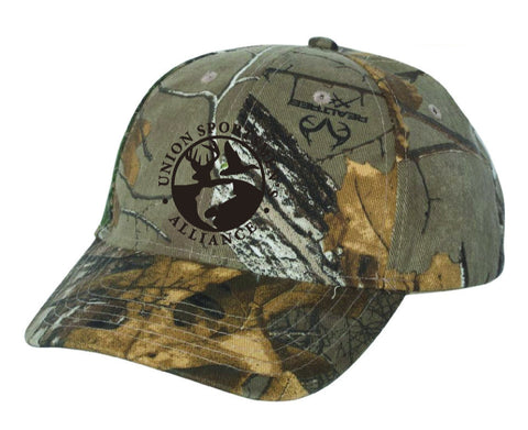 USA Logo Stars and Stipes 6 panel Camo Hat Realtree