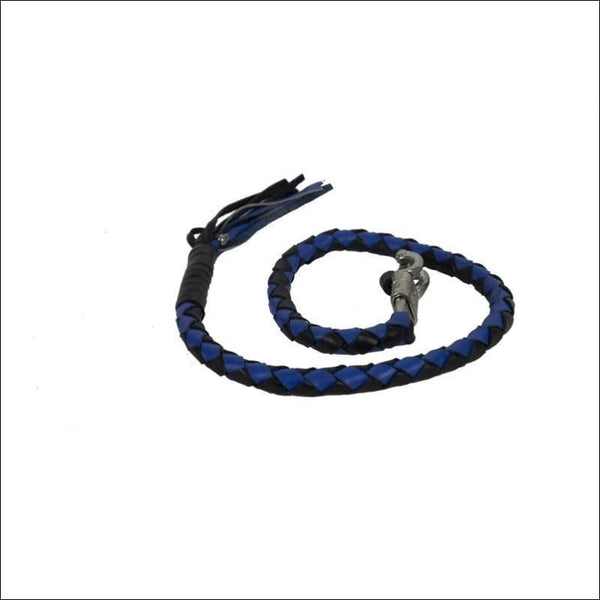 2 Black & Blue Get Back Whip for Motorcycles - Motorcycle Get Back Whip