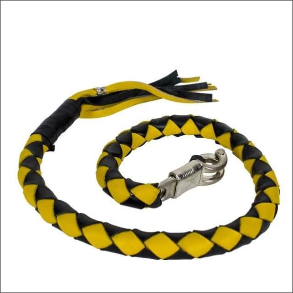 3 Black & Yellow Get Back Whip for Motorcycles - Motorcycle Get Back Whip